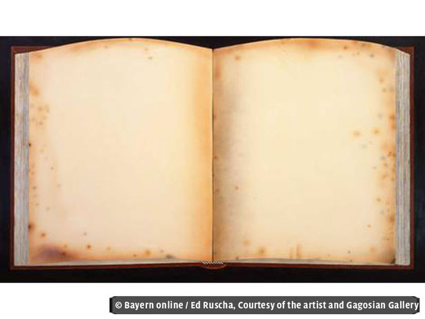 Ed Ruscha, Old Book Today, 2011-12, Acryl auf Leinwand, 72 x 124 inches